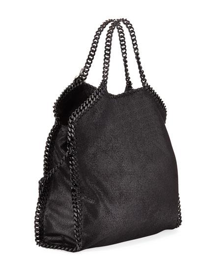 Stella McCartney Shaggy Deer Fold-Over Medium Tote Bag