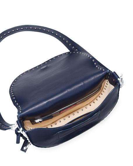 Free Rockstud Leather Saddle Shoulder Bag