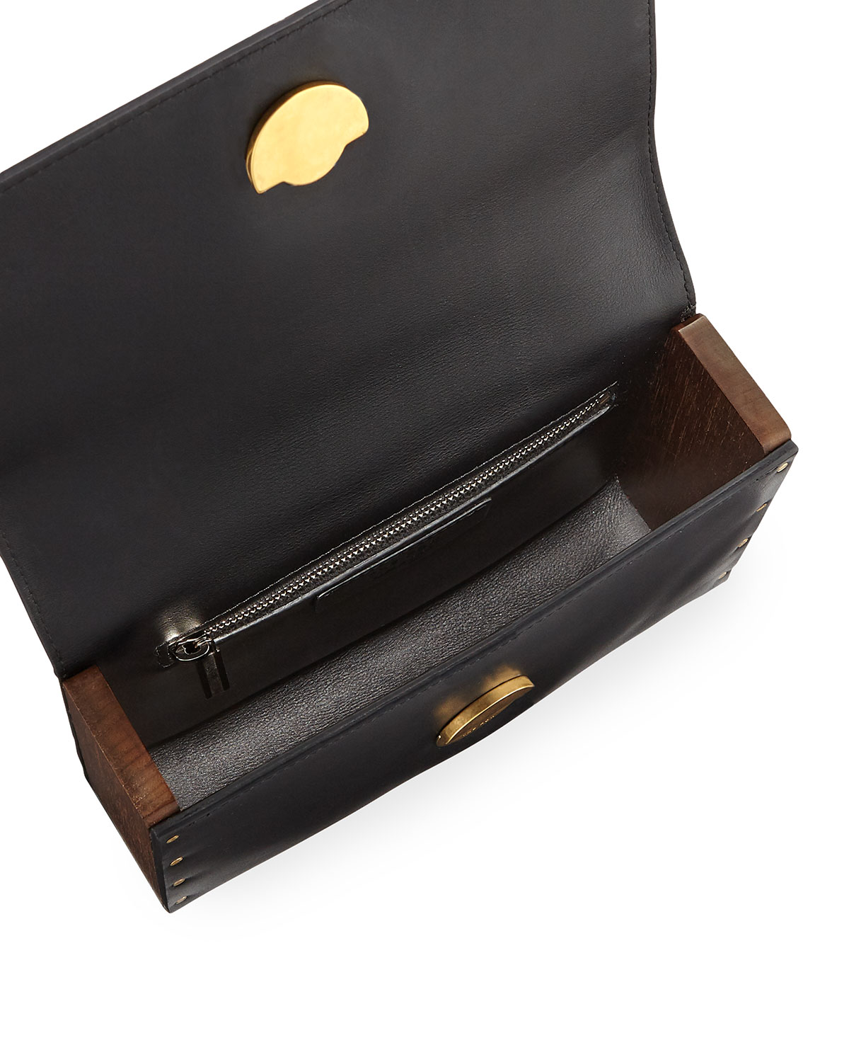 The Row Tool Bag Small Calf/Wooden Clutch Bag RVw2M4