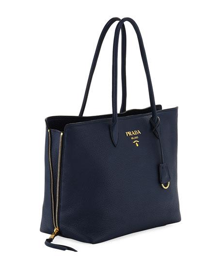 Daino Double Handle Leather Tote Bag