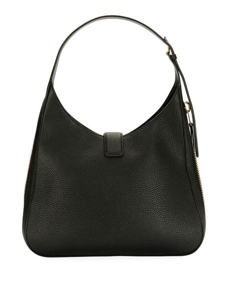 Tara Grain Lux Calf Shoulder Hobo Bag
