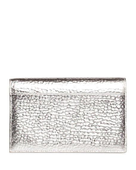 Akris Anouk Hammered Leather Envelope Clutch Bag
