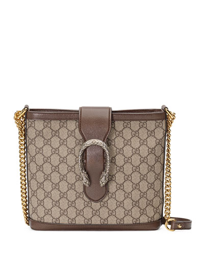 96c39ff8360e56 Gucci Dionysus Medium GG Supreme Canvas Bucket Bag