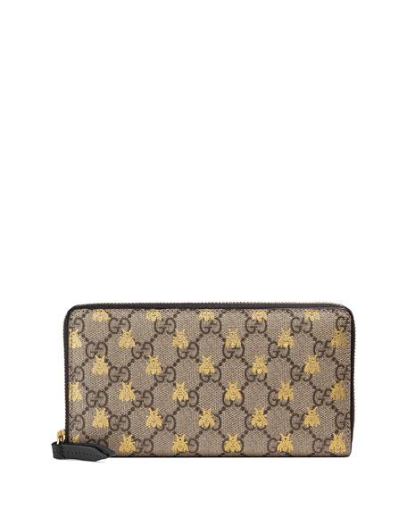 Linea A GG Supreme Canvas Zip-Around Wallet