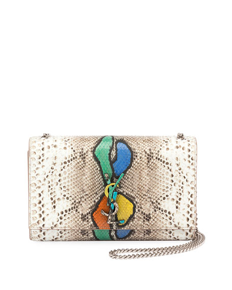 Saint Laurent Kate Medium Python Shoulder Bag