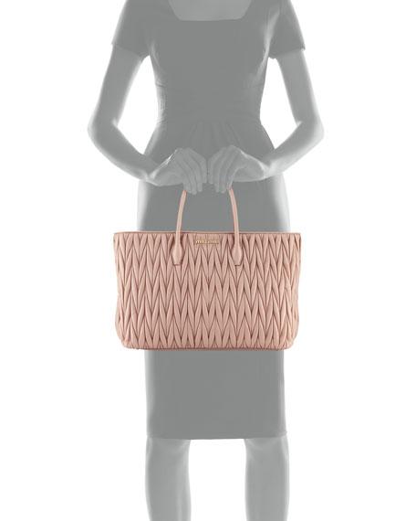 Matelassé Leather Tote Bag