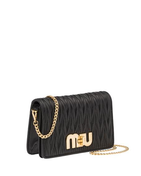 Miu Miu Matellasse Leather Shoulder Bag   Neiman Marcus fb5bd35856