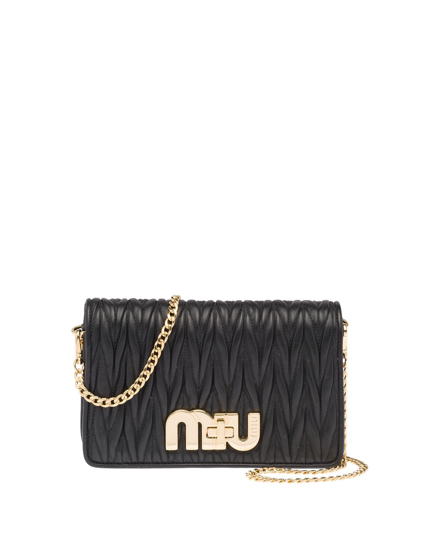 c9593605c72a Miu MiuMatellasse Leather Shoulder Bag. Free Shipping ...