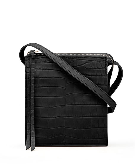Sara Suede Zip Tassel Crossbody Bag
