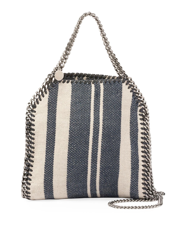 f725b8d03c2e Stella McCartney Falabella Striped Canvas Mini Tote Bag