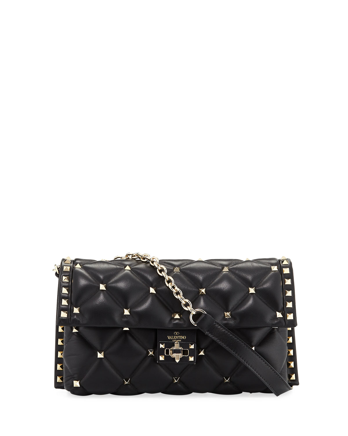 6eaa06ca89 Valentino Garavani CandyStud Small Quilted Shoulder Bag | Neiman Marcus
