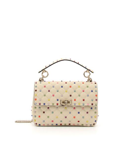 Candy-Stud Medium Shoulder Bag
