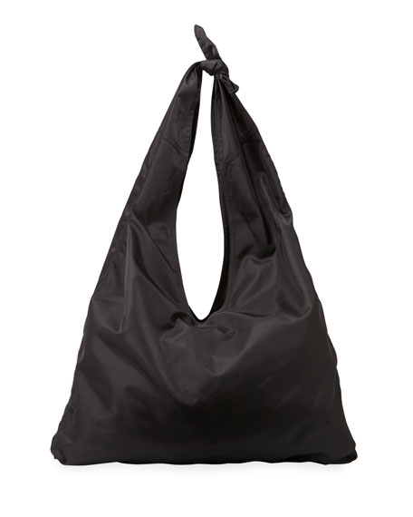 Bindle Knot Nylon Hobo Bag