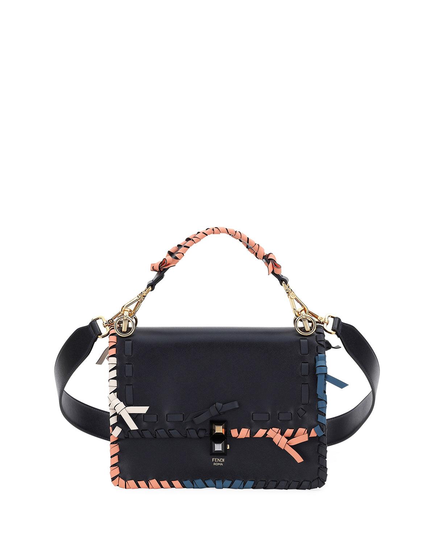Fendi Kan I Regular Leather Scalloped Shoulder Bag   Neiman Marcus 3921d01892