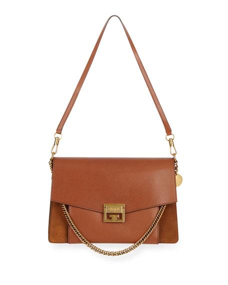 Givenchy GV3 Medium Pebbled Leather Shoulder Bag -