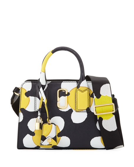 Marc Jacobs Little Big Shot Daisy Saffiano Leather