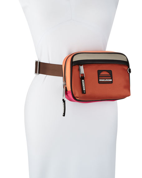 Colorblock Fabric Belt Bag