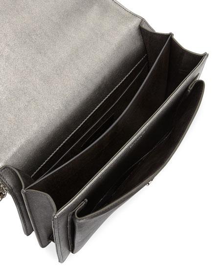 Sunset Medium Triquilt Leather Crossbody Bag