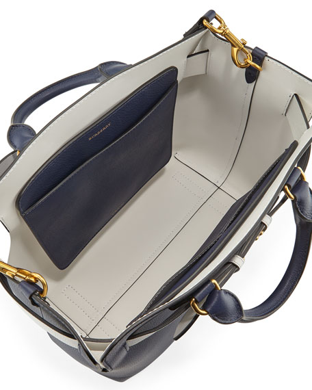 Marais Medium Belt Top Handle Bag, Navy