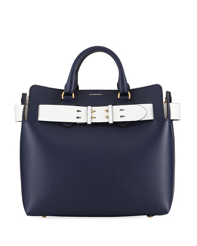 dd76f8abeb5 Burberry Marais Medium Belted Top Handle Bag, Navy from Neiman ...