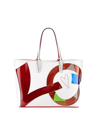 Cabata Small Love Calf Paris Tote Bag