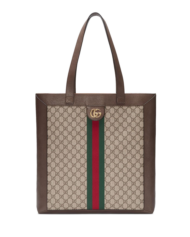 6d3afcd9cc44 Gucci Ophidia GG Supreme Jacquard Striped Tote Bag | Neiman Marcus
