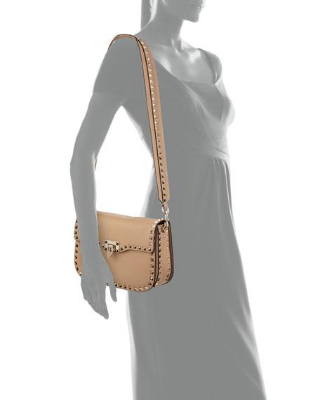 Rockstud Medium Leather Saddle Shoulder Bag