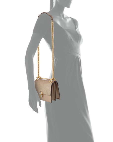 Fendi Kan I Small Liberty FF Embossed Shoulder Bag