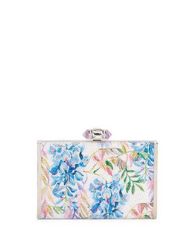 River Blossoms Tall Slender Rectangle Evening Clutch Bag