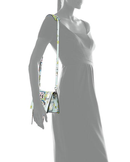 7dba42758b0077 Prada Etiquette Small Comic Print Shoulder Bag   Neiman Marcus