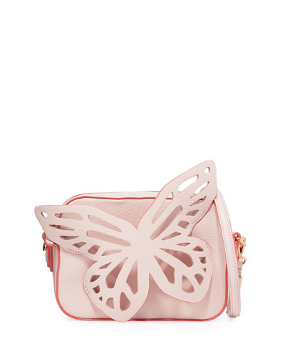 Flossy Butterfly Crossbody Camera Bag, Sunkissed Pink