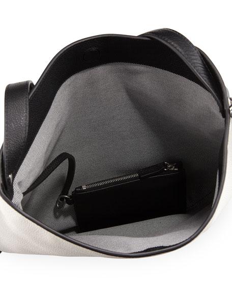 Roxy Refined Leather Hobo Bag