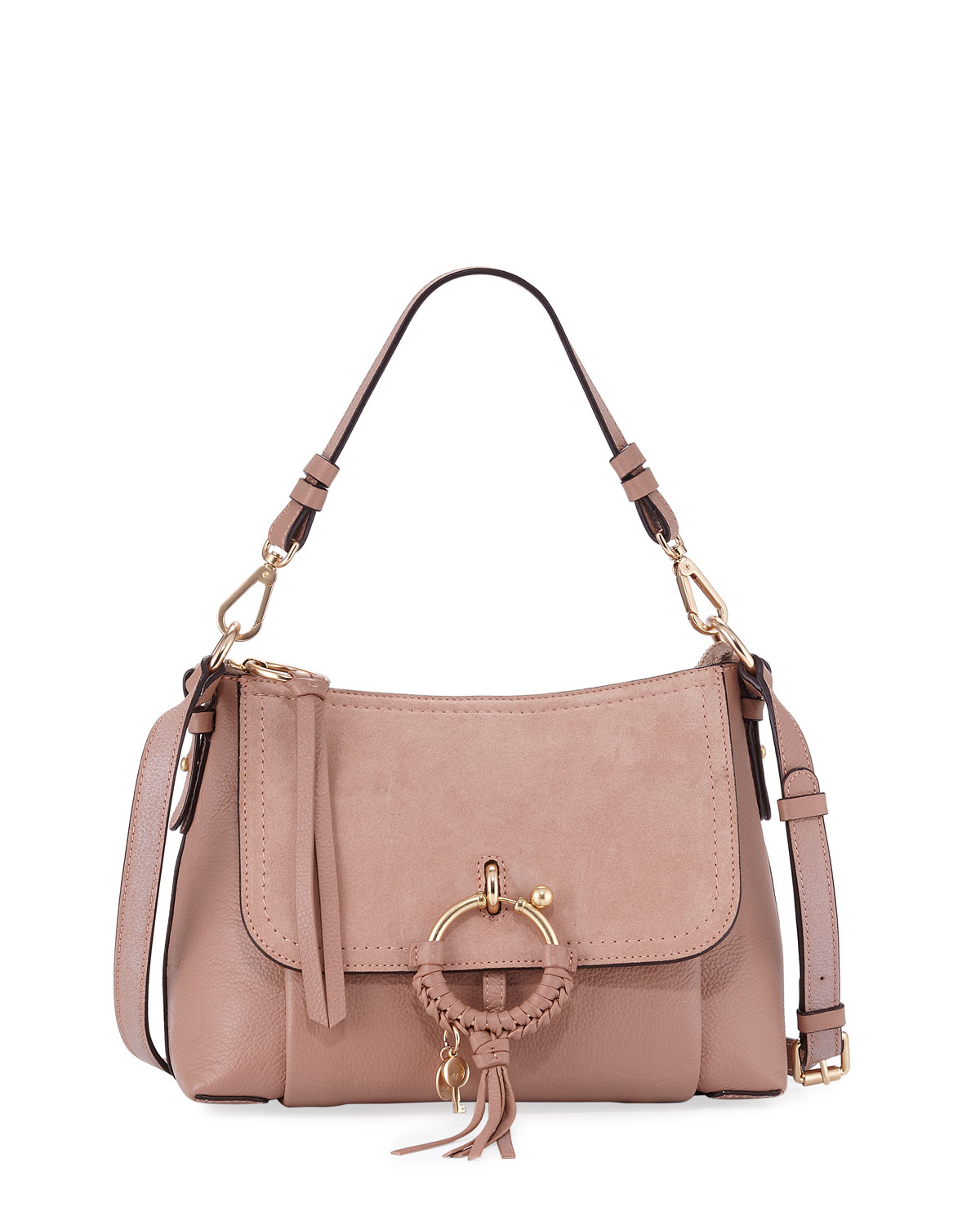 c593178c43069 See by Chloe Joan Small Mixed Leather Crossbody Bag | Neiman Marcus