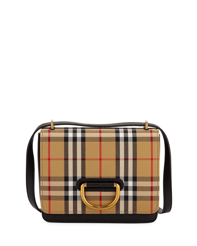1bbee562ea2c Burberry Small D-Ring Check Crossbody Messenger Bag | Neiman Marcus