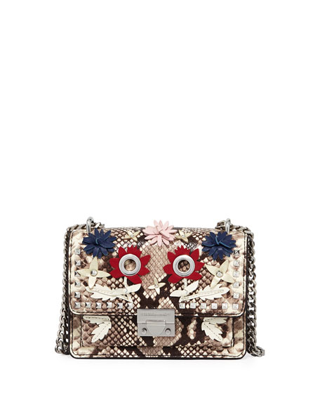 Rebecca Minkoff Christy Small Snake-Print Shoulder Bag
