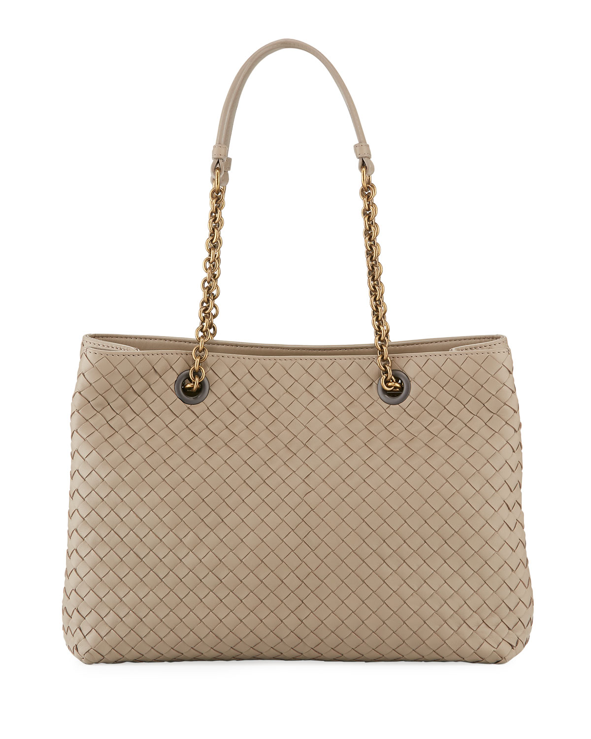 09859ab1a940 Bottega Veneta Intrecciato Medium Double-Chain Tote Bag