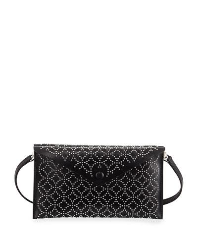 Studded Dual-Flap Crossbody Bag