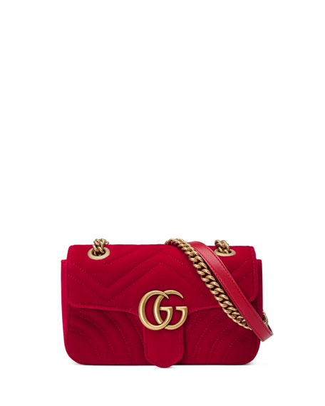 Gucci GG Marmont Mini Velvet Bag