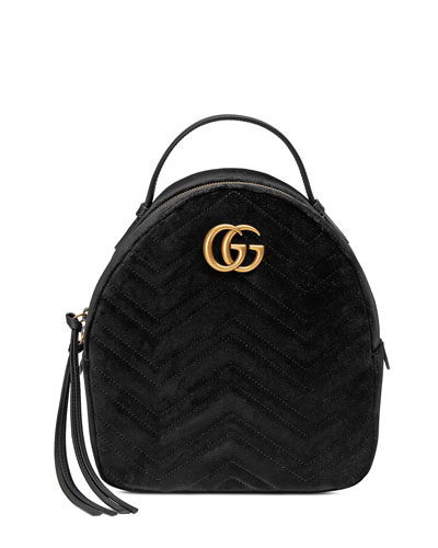 f81b17af5ad205 Gucci GG Marmont Quilted Velvet Backpack. Gucci GG Marmont Quilted Velvet  Backpack $1,890. Gucci GG Marmont Chevron Quilted Leather Flap Wallet on a  Chain