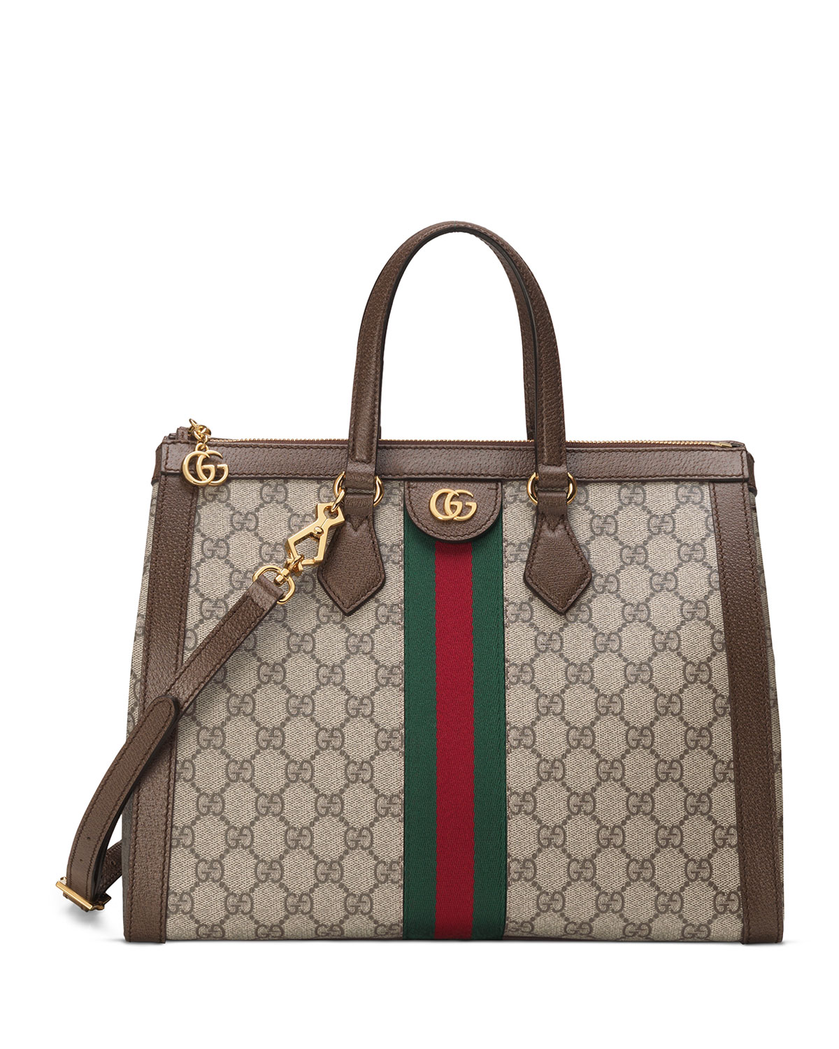 77b3df6eb056 Gucci Ophidia Medium GG Supreme Canvas Web Top-Handle Tote Bag ...