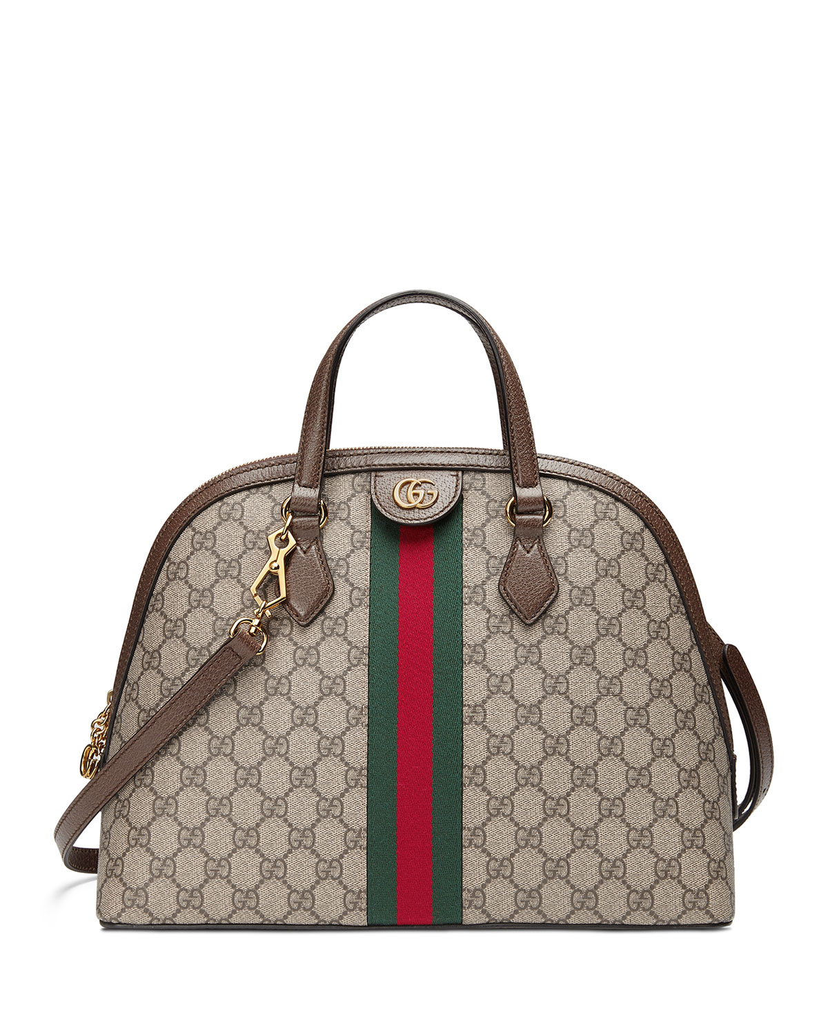 b428eec61916 Gucci Ophidia Medium Web GG Supreme Top-Handle Bag | Neiman Marcus