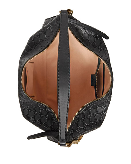 Image 2 of 4: Linea A Large Guccissima Leather Hobo Bag