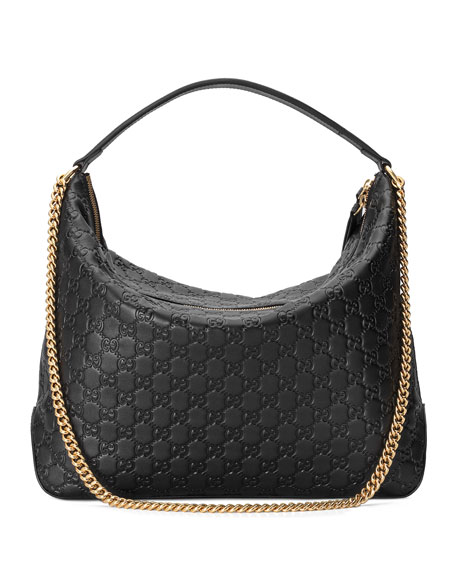 Image 3 of 4: Linea A Large Guccissima Leather Hobo Bag