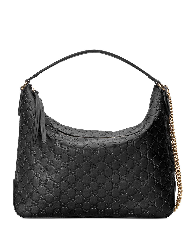 93861cb3274d9 Gucci Linea A Large Guccissima Leather Hobo Bag | Neiman Marcus
