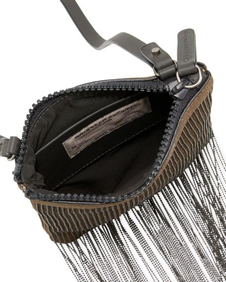 Monili Fringe Crossbody Pouch Bag