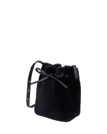 Shearling Mini Bucket Bag