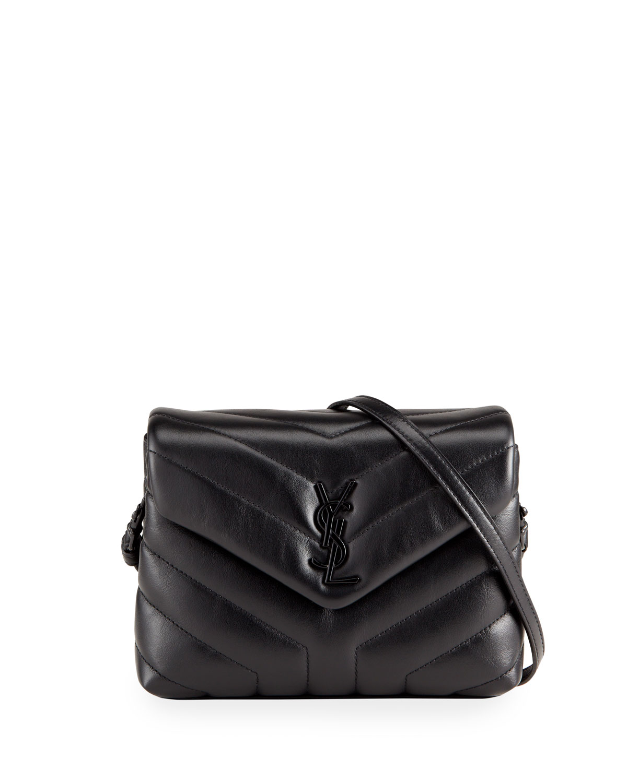 610680303f6 Saint Laurent Loulou Toy Monogram YSL Quilted Shoulder Bag | Neiman ...