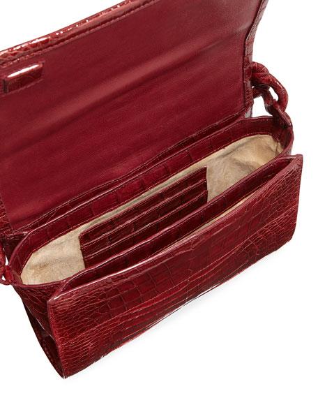 Carrie Crocodile Clutch Bag