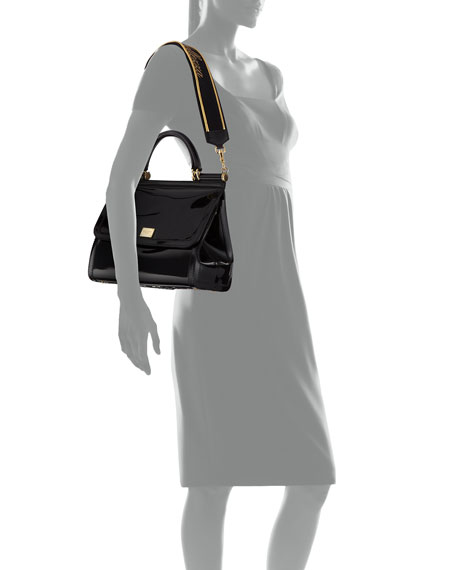 Sicily Large Plus Gomma Plexi Top Handle Bag by Dolce & Gabbana