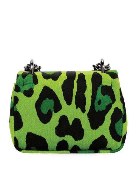 Natalia Small Leopard-Print Soft Velvet Shoulder Bag